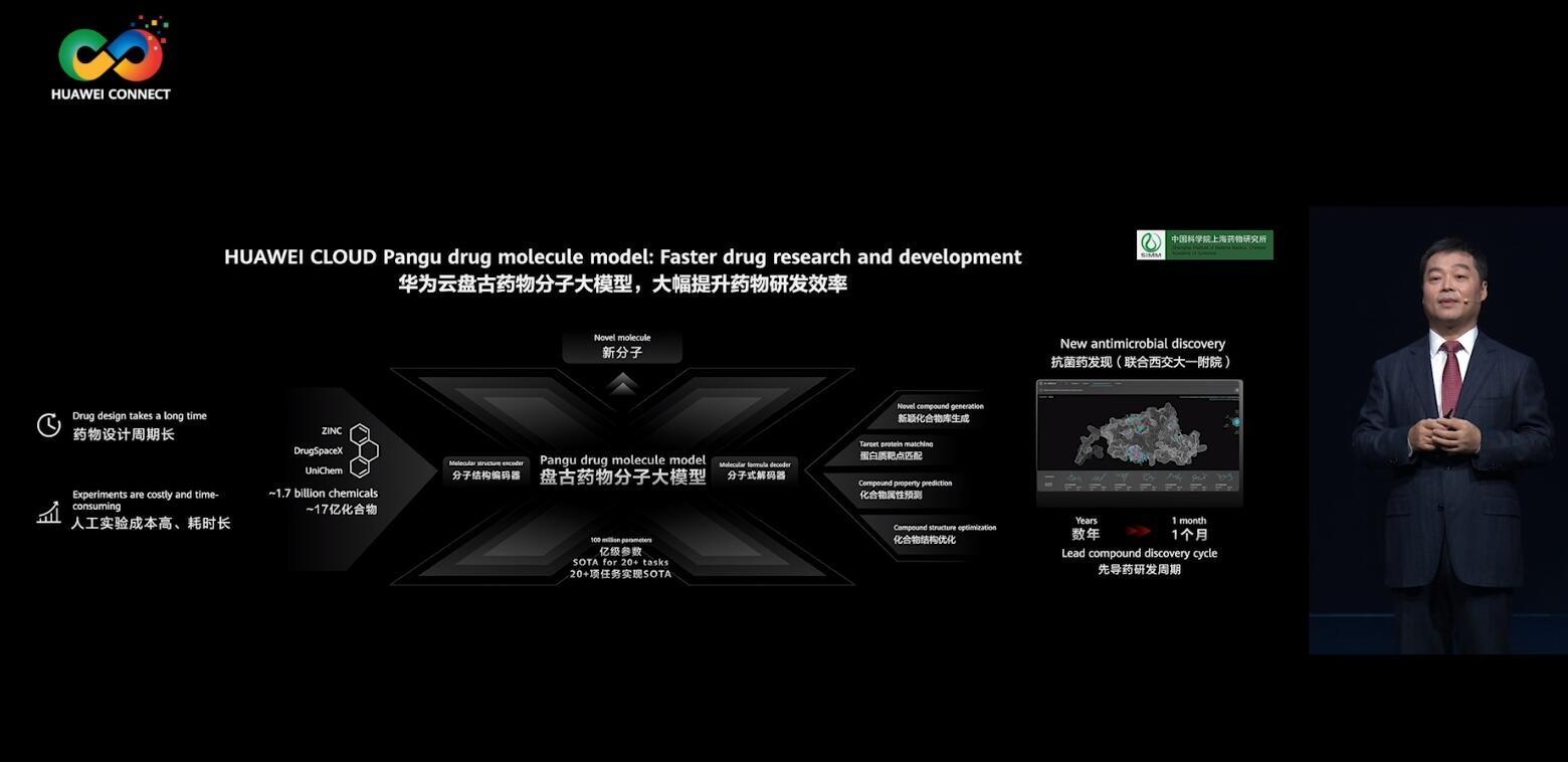 华为云发布盘古药物分子大模型,进军AI药物研发