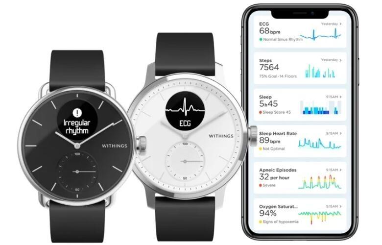 FDA批准Withings全新智能手表 ScanWatch检测心房颤动和睡眠呼吸暂停功能
